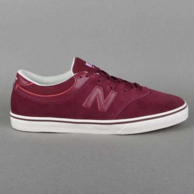 New Balance Numeric Quincy 254 Skate Shoes - Burgundy Suede