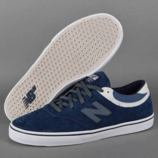 new balance skate shoes. quincy 254 skate shoes - navy suede new balance