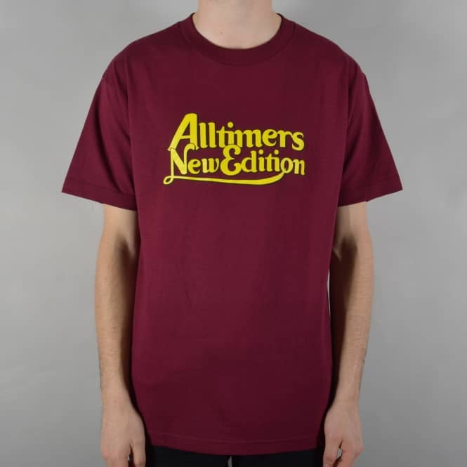Alltimers New Edition Skate T-Shirt - Burgundy