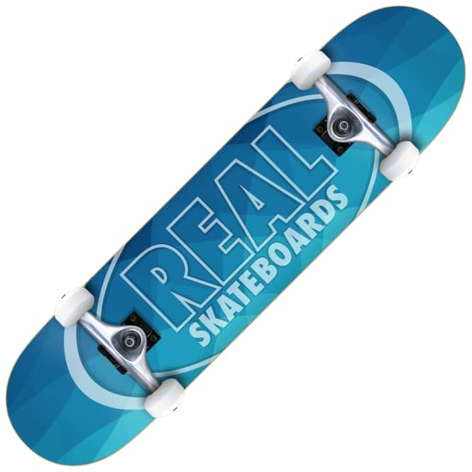 Real Skateboards New Light Large (Blue) Complete Skateboard 8.0