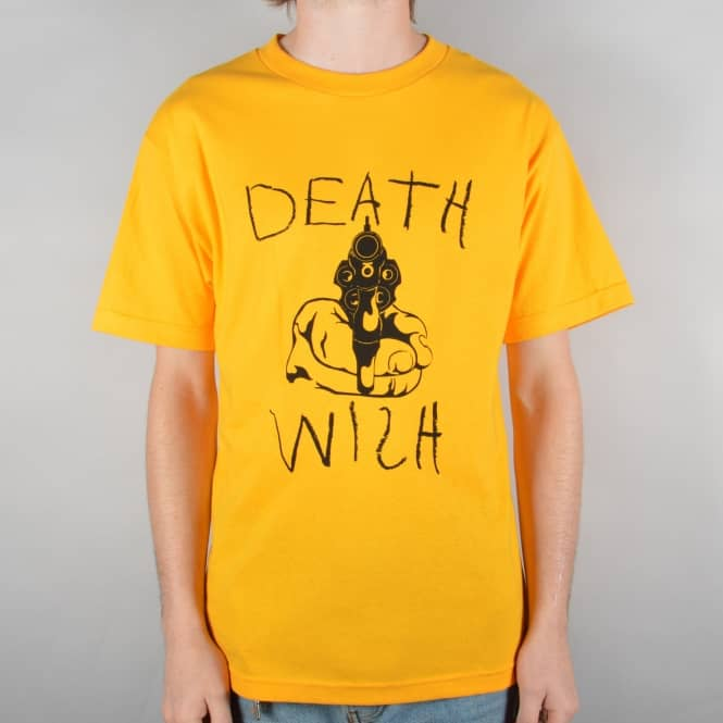 Deathwish Skateboards New York Minute Skate T-Shirt - Gold