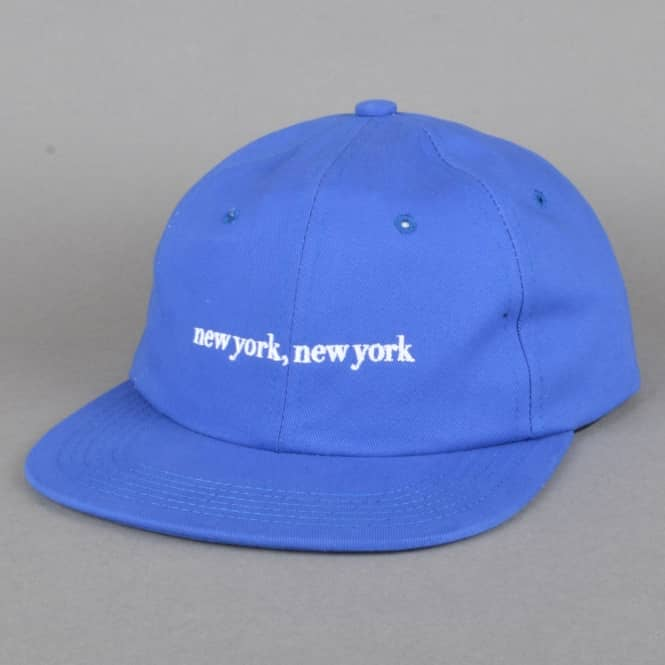 Hotel Blue Skateboards New York, New York Strapback Cap - Royal Blue