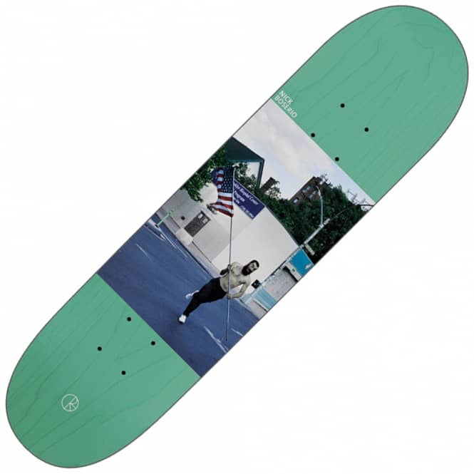 Polar Skateboards Nick Boserio America (Green Stain) Skateboard Deck 8.125