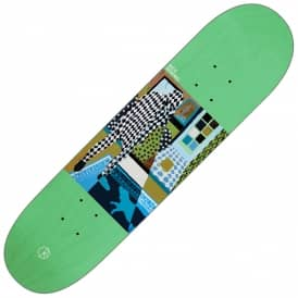 Nick Boserio Man With Dog (Green Stain) Skateboard Deck 8.25