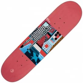 Nick Boserio Man With Dog (Red Stain) Skateboard Deck 8.25