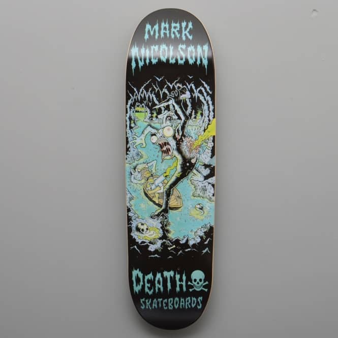 Death Skateboards Nicolson Polluted Cave 90's Shape Skateboard Deck 8.75
