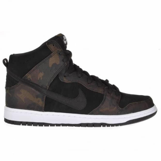 newest 852a5 b1df0 Nike Dunk High Pro SB Iguana Black Skate Shoes