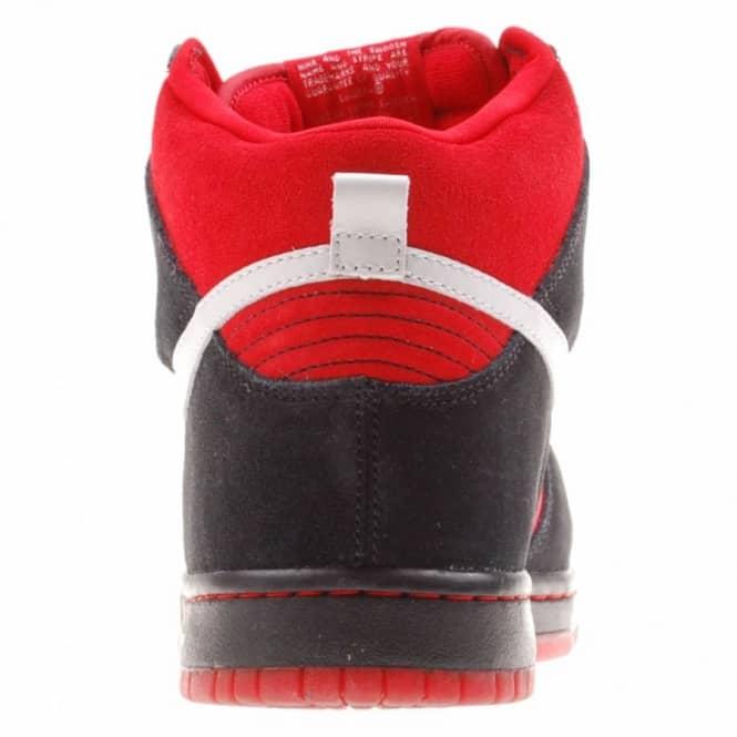 b3887ef8ad477 Nike SB Nike Dunk High Pro S.B. Sport Red Metallic Platinum - Mens ...