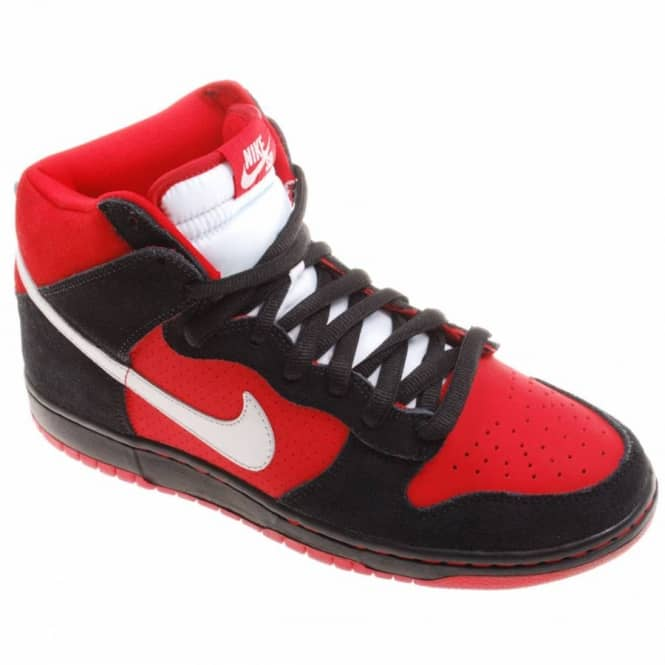 3b66b6d951b Nike SB Nike Dunk High Pro S.B. Sport Red Metallic Platinum - Mens ...