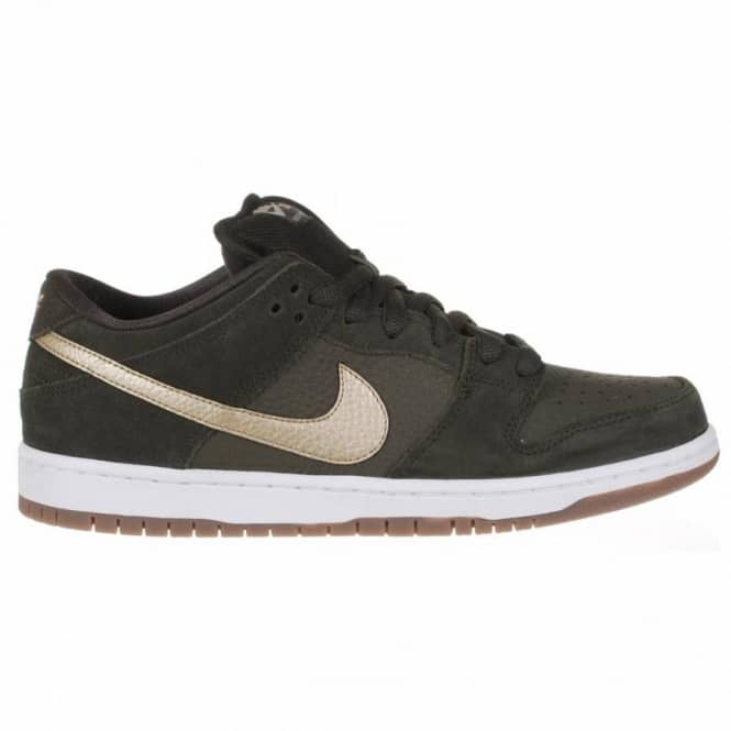 purchase cheap d5501 27b57 Nike Dunk Low Pro SB Skate Shoes - SequoiaMetallic Zinc-White-Gum