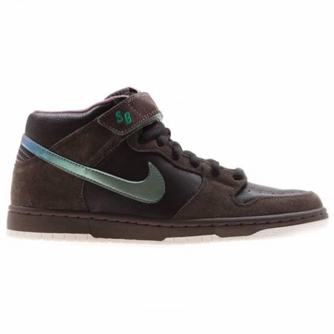 Nike SB Nike Dunk Mid Premium S.B. Black/Sea Green - Mens Skate ...