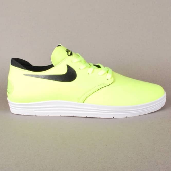 newest collection 40405 5234b Nike Lunar Oneshot Quik Strike Skate Shoes - Volt Black