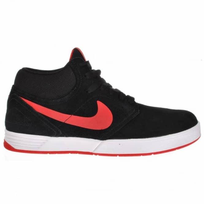 timeless design wholesale price high fashion Nike SB Nike Paul Rodriguez 5 Mid Black/Sport Red Skate Shoes