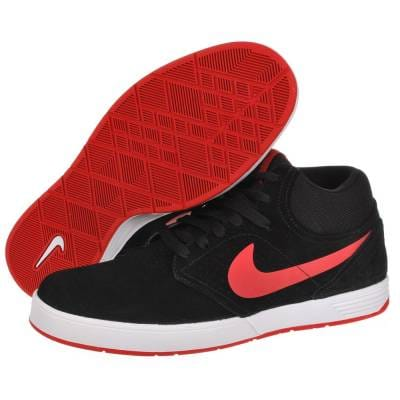Nike SB Nike Paul Rodriguez 5 Mid Black/Sport Red Skate Shoes