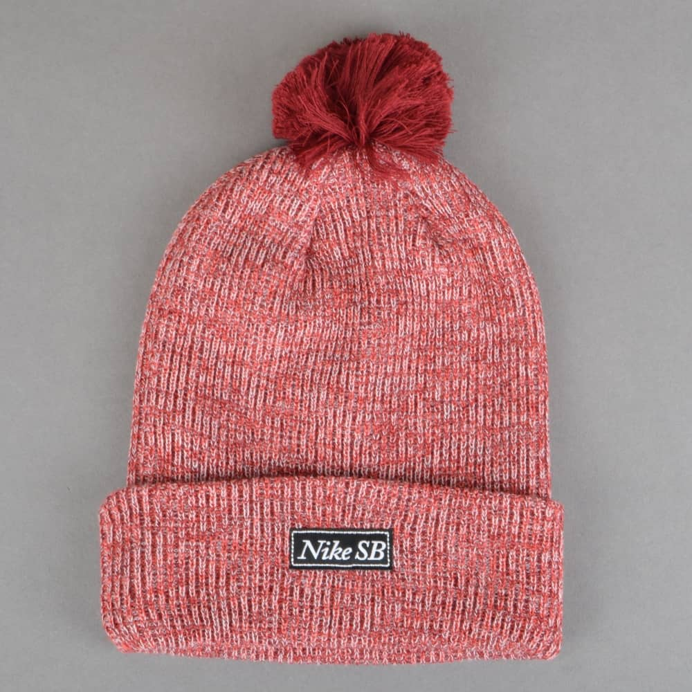 Nike SB 2-In-1 Marl Pom Pom Beanie - Team Red - SKATE CLOTHING from ... 63b757861