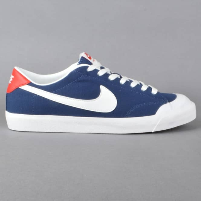 Nike SB All Court CK Skate Shoes - Midnight Navy/Summit White-Gum Light Brown