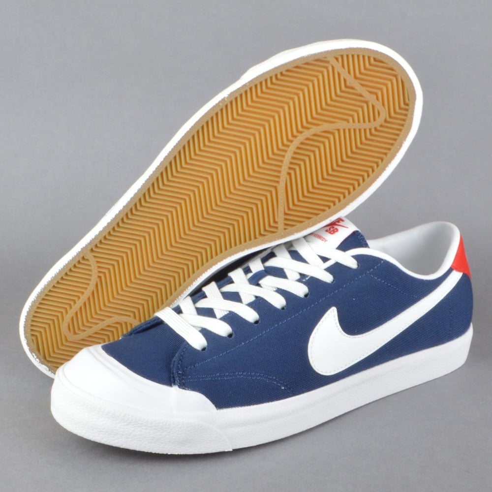 the latest 43029 30a7e All Court CK Skate Shoes - Midnight Navy Summit White-Gum Light Brown