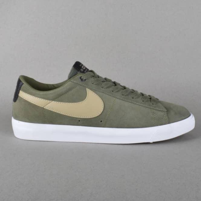 c1fa75c0a637 Nike SB Blazer Low GT QS Skate Shoes - Cargo Khaki Bamboo Gum Light ...