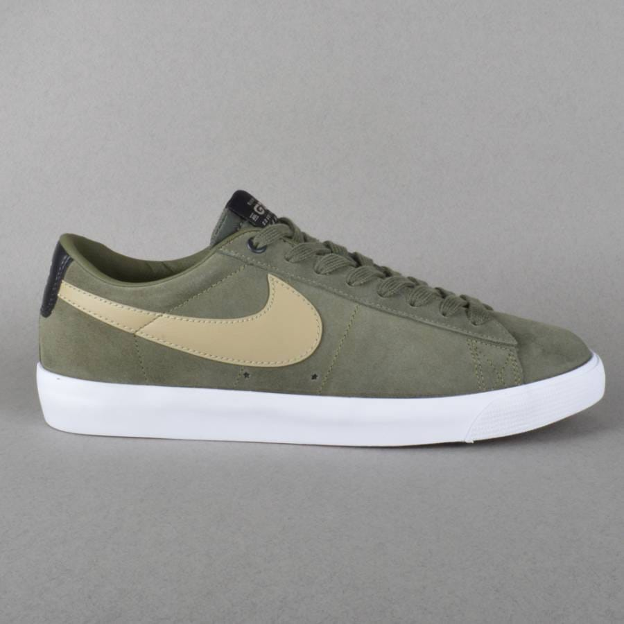 nike sb blazer low gt qs skate shoes cargo khaki bamboo. Black Bedroom Furniture Sets. Home Design Ideas