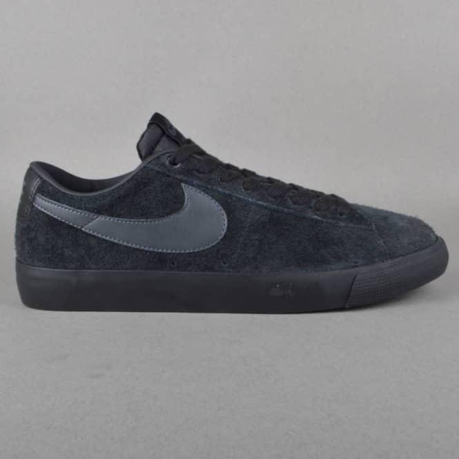 a6124489ea80c2 Nike SB Blazer Low GT Skate Shoes - Black Anthracite - SKATE SHOES ...