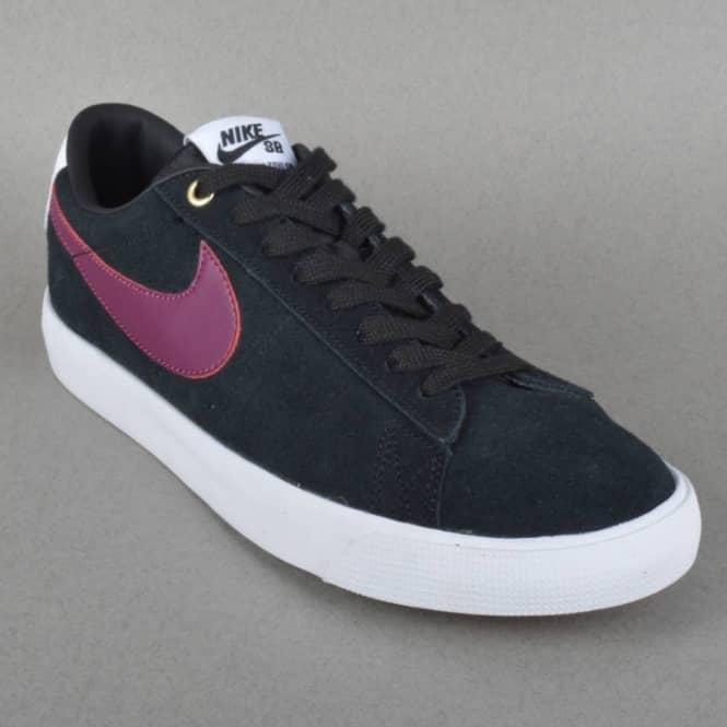 hot sale online 7183f 4912d Blazer Low GT Skate Shoes - Black Villian Red-Gum Light Brown-White