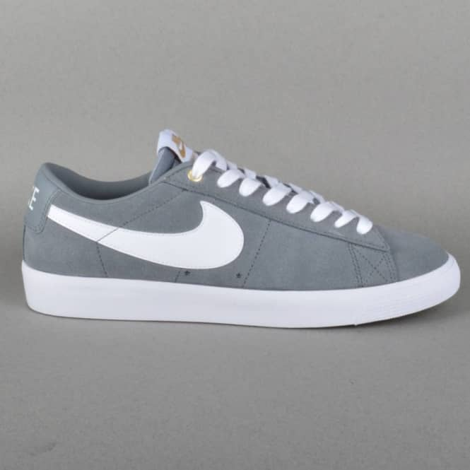4a6642d1a5504 Nike SB Blazer Low GT Skate Shoes - Cool Grey White-Tide Pool Blue ...