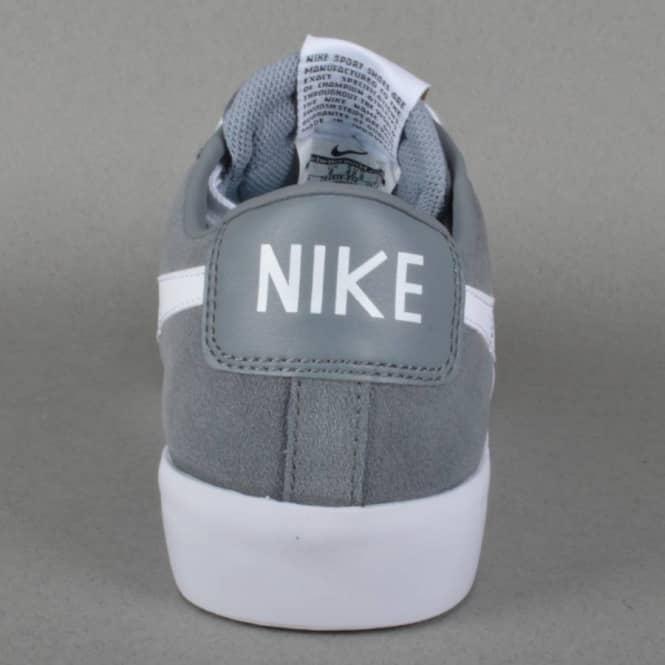 470eeb6c0c3 Nike SB Blazer Low GT Skate Shoes - Cool Grey White-Tide Pool Blue ...