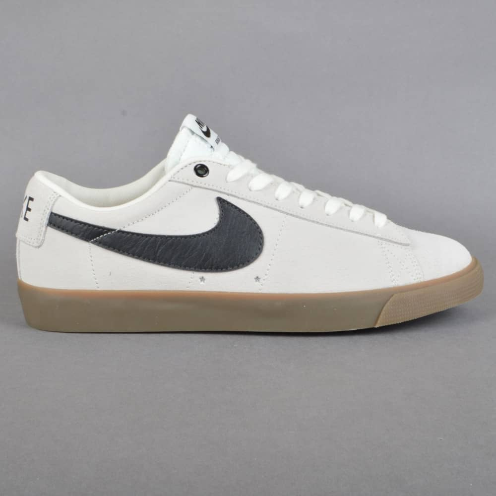 Blazer Low GT Skate Shoes - Ivory/Black-Gum Light Brown