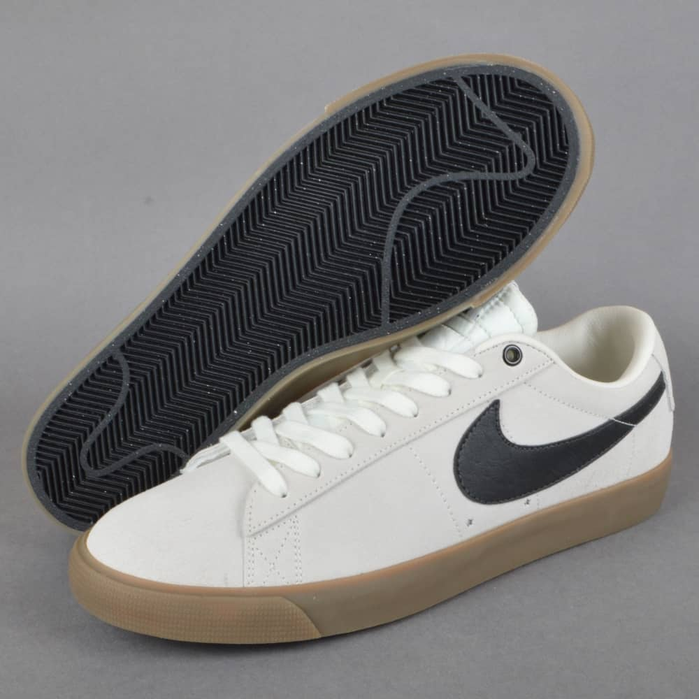 ... Blazer Low GT Skate Shoes - Ivory Black-Gum Light Brown Nike ... 125aded4c