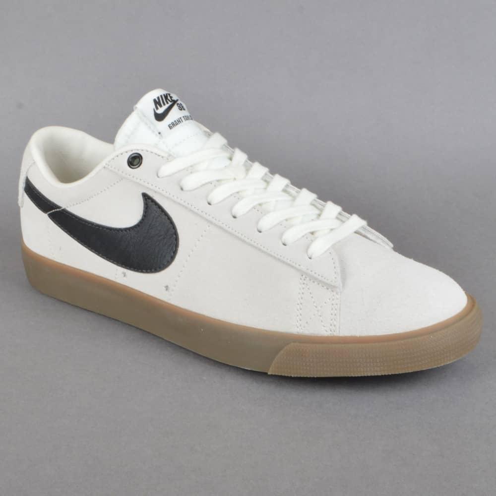 Blazer Low GT Skate Shoes - Ivory/Black-Gum Light Brown