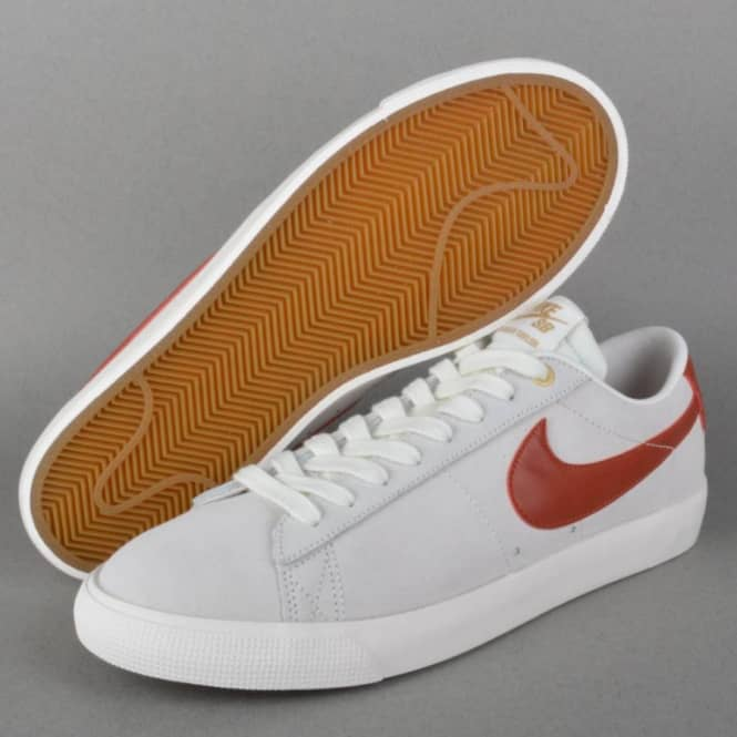 5d593aeeea3d Nike SB Blazer Low GT Skate Shoes - Ivory Cinabar Metallic Gold ...