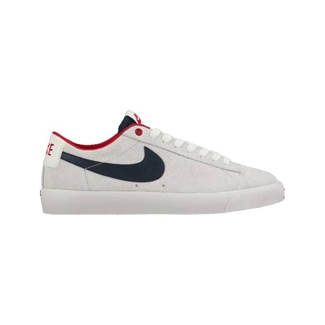 hot sale online e9585 cd6e3 Nike SB Nike SB Blazer Low GT Skate Shoes - Summit  White Obsidian-University Red