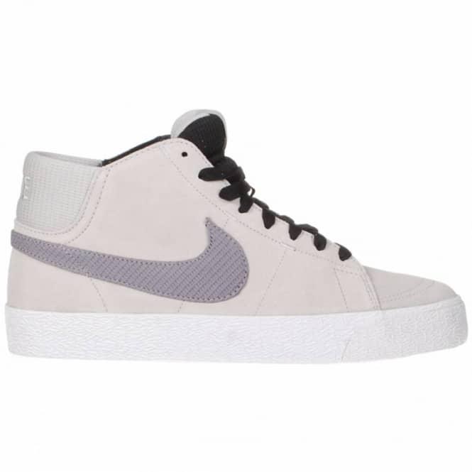 best sneakers a6cb1 1ec66 Nike SB Blazer Mid LR Skate Shoe - Strata GreyMetallic Cool Grey