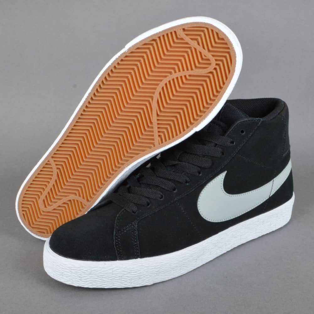 6e4c680f33d3 Nike SB Blazer SB Premium SE Skate Shoes - Base Grey Black-White ...
