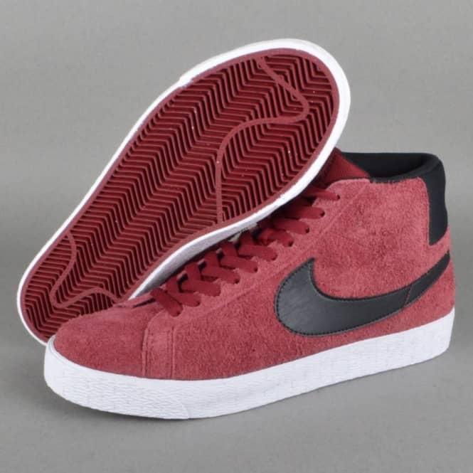 Blazer SB Premium SE Skate Shoes - Team Red/Black-White