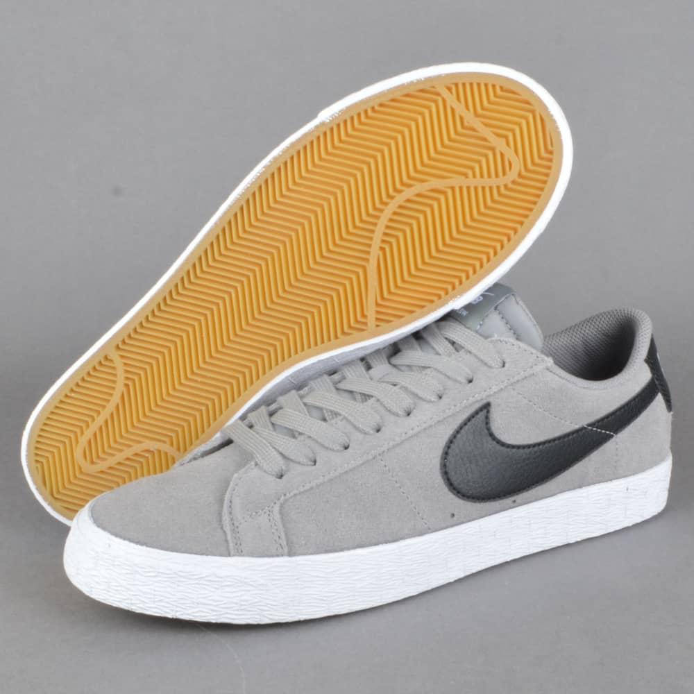 0e3da1b1c219 Nike SB Blazer Zoom Low Skate Shoes - Dust Black-White - SKATE SHOES ...