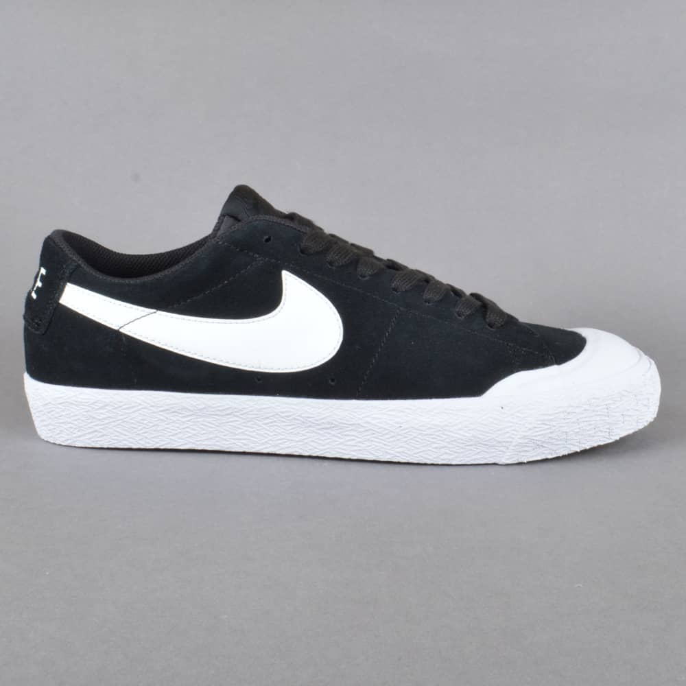 f58be7095fc5 Nike SB Blazer Zoom Low XT Skate Shoes - Black White-Gum Light Brown ...