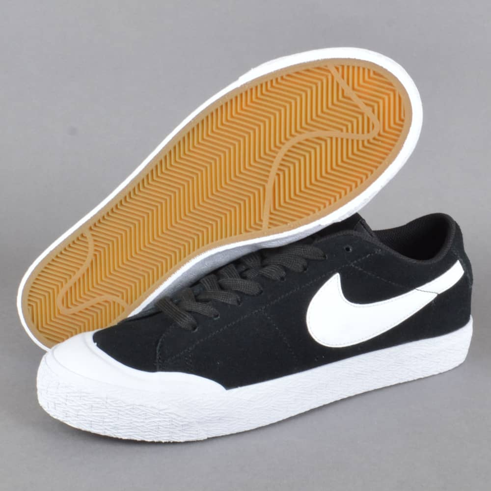 timeless design c1a17 603fc Blazer Zoom Low XT Skate Shoes - Black White-Gum Light Brown