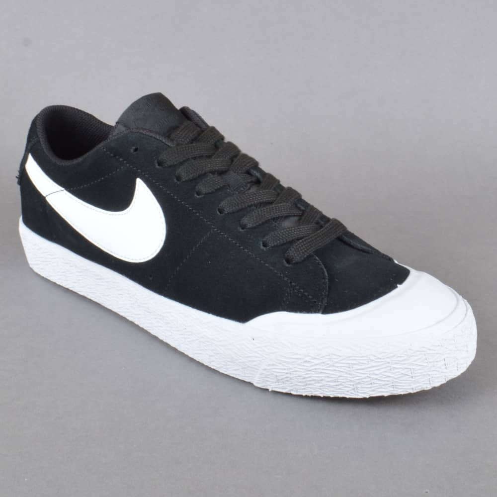 fc2573098f8b Nike SB Blazer Zoom Low XT Skate Shoes - Black White-Gum Light Brown ...