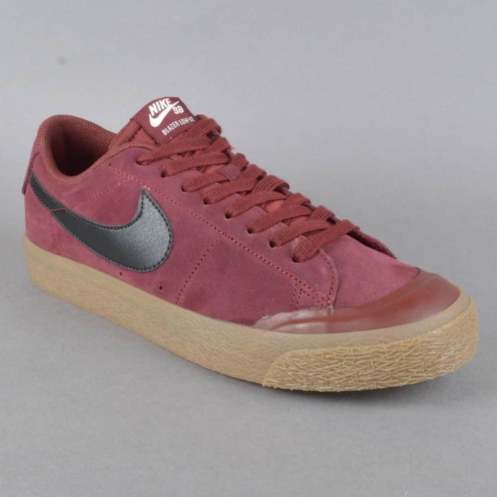 Nike SB Blazer Zoom Low XT Skate Shoes - Dark Team Red Black - SKATE ... 50fae05322d3