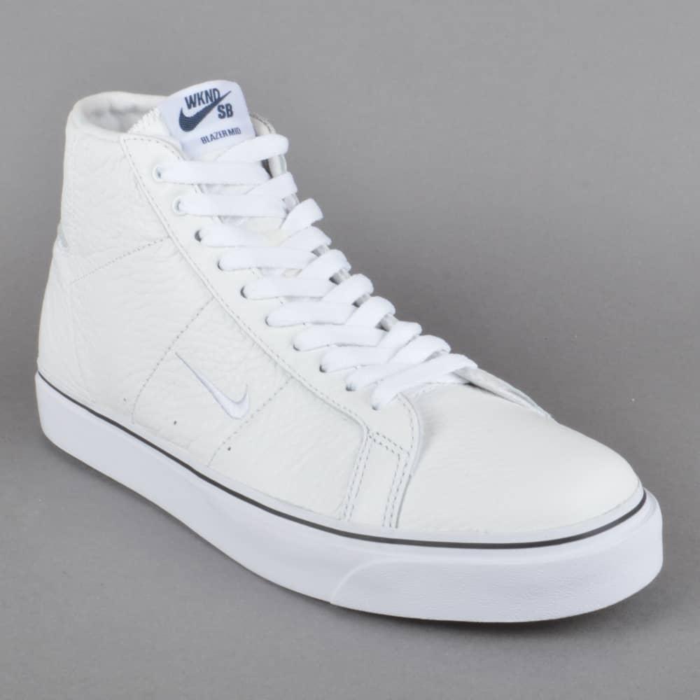 info for 99e16 29589 Blazer Zoom Mid QS WKND Skate Shoes - Summit White White