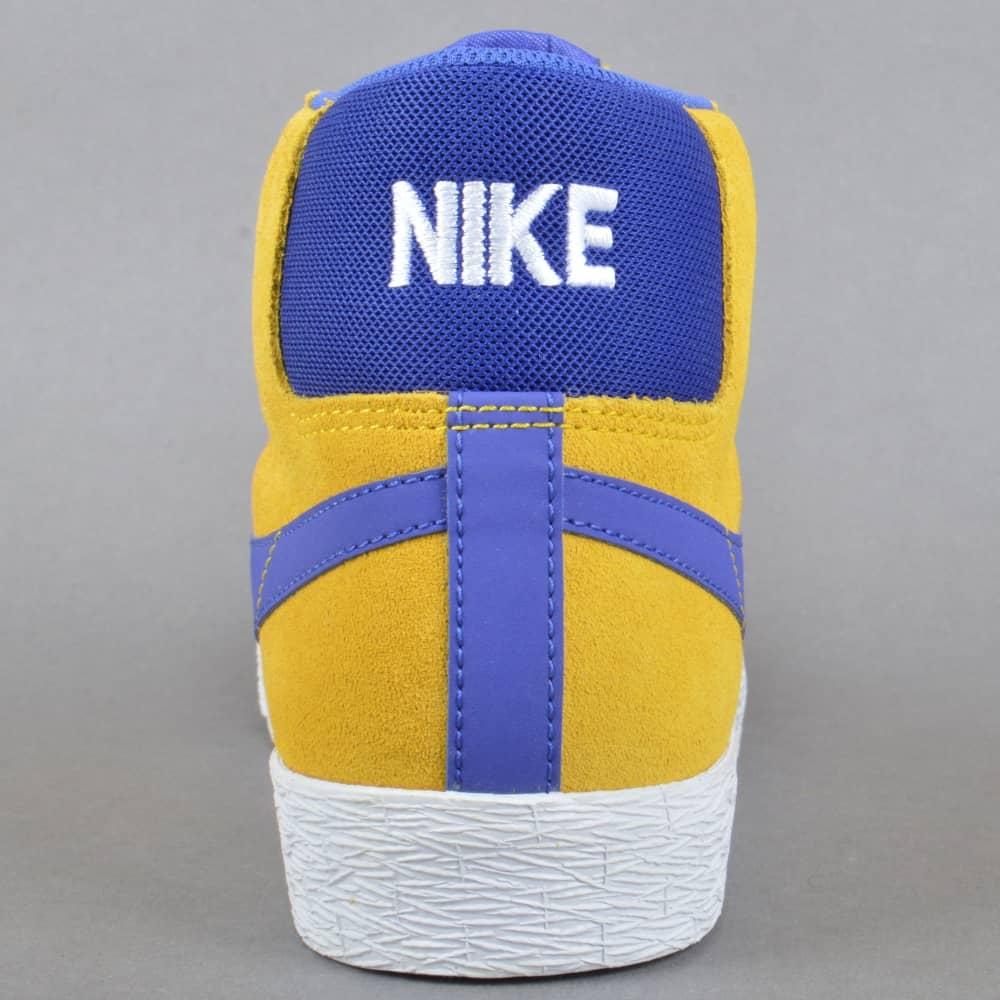 new product e0615 4a4e4 Blazer Zoom Mid Skate Shoes - Tour Yellow Deep Night-White