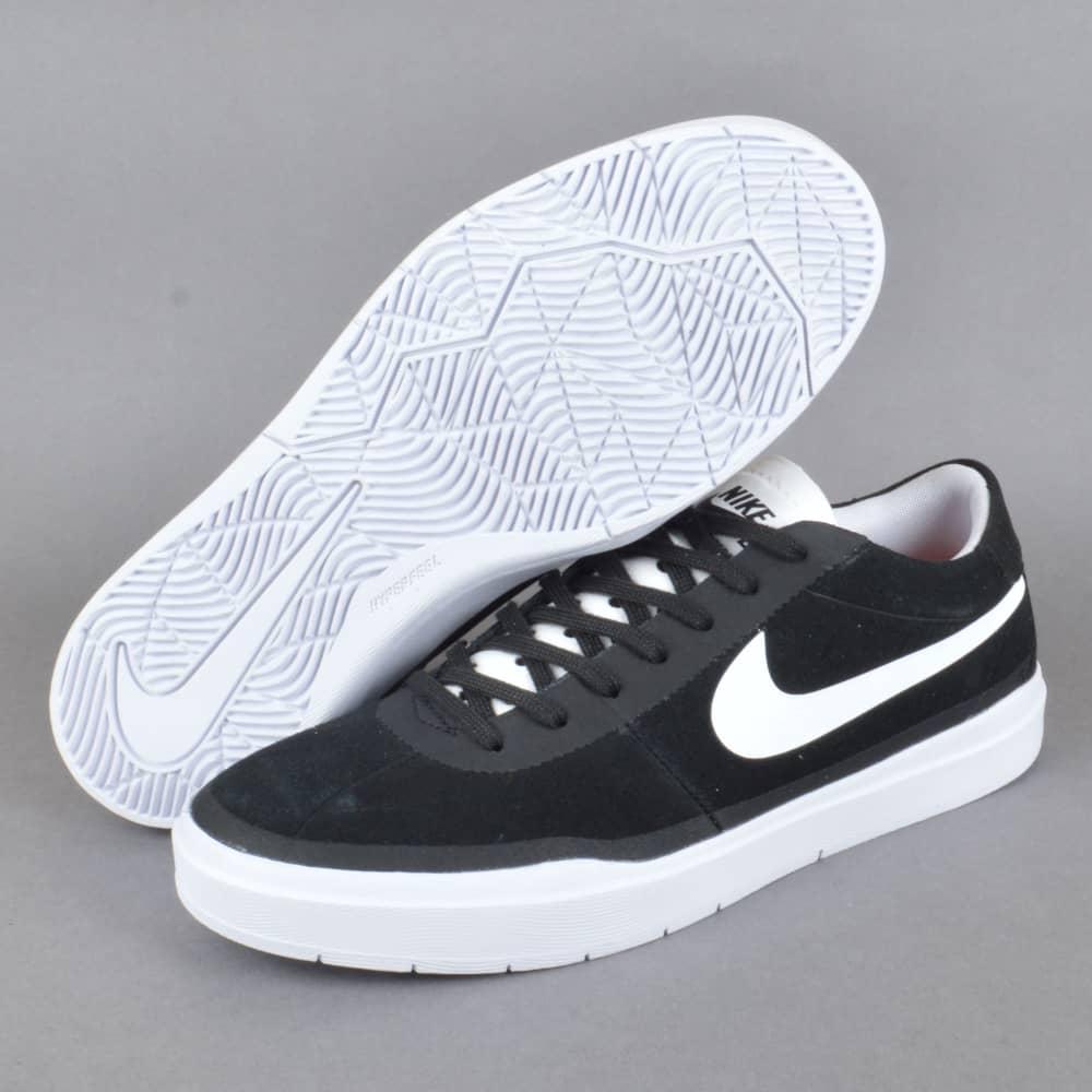 buy online b7e23 1843f Bruin Hyperfeel Skate Shoes - Black White-White