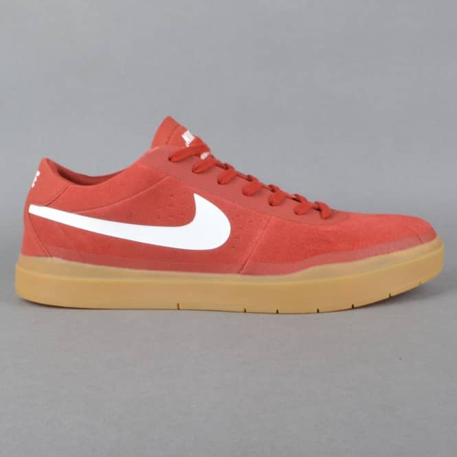 Nike SB Bruin SB Hyperfeel Skate Shoes - Dark Cayenne/White-Gum Light Brown