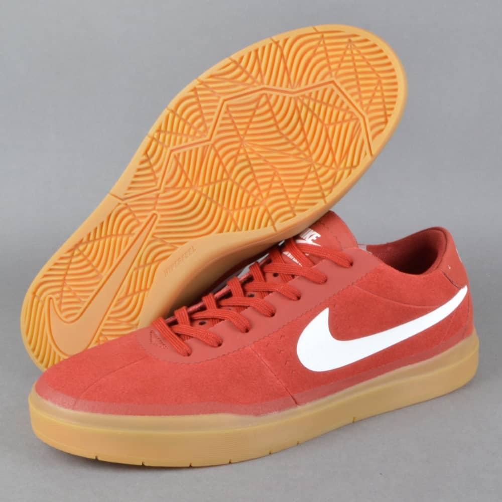 new concept 08dd7 89945 Bruin SB Hyperfeel Skate Shoes - Dark Cayenne White-Gum Light Brown