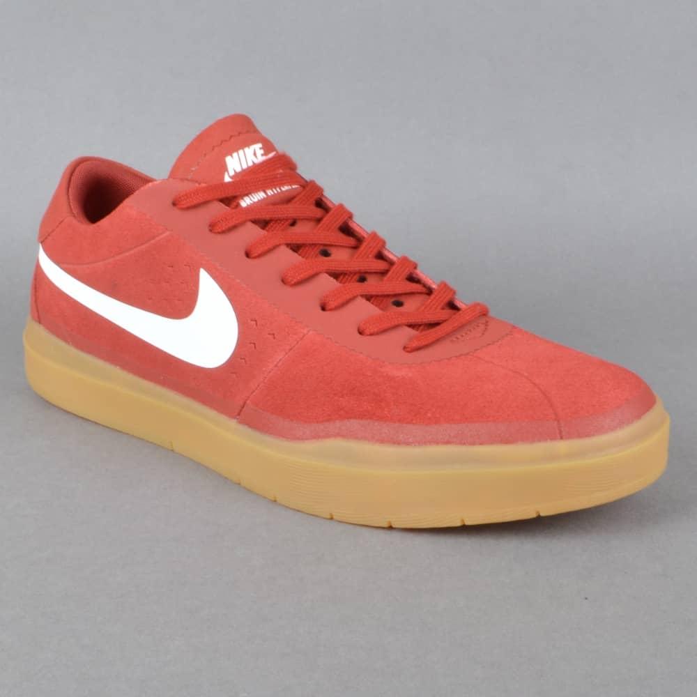 Bruin SB Hyperfeel Skate Shoes - Dark Cayenne/White-Gum Light Brown