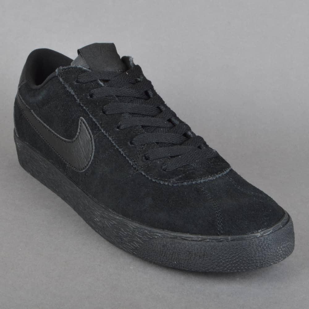 44a5781ce7a21 Nike SB Bruin SB Premium SE Skate Shoes - Black Black - SKATE SHOES ...