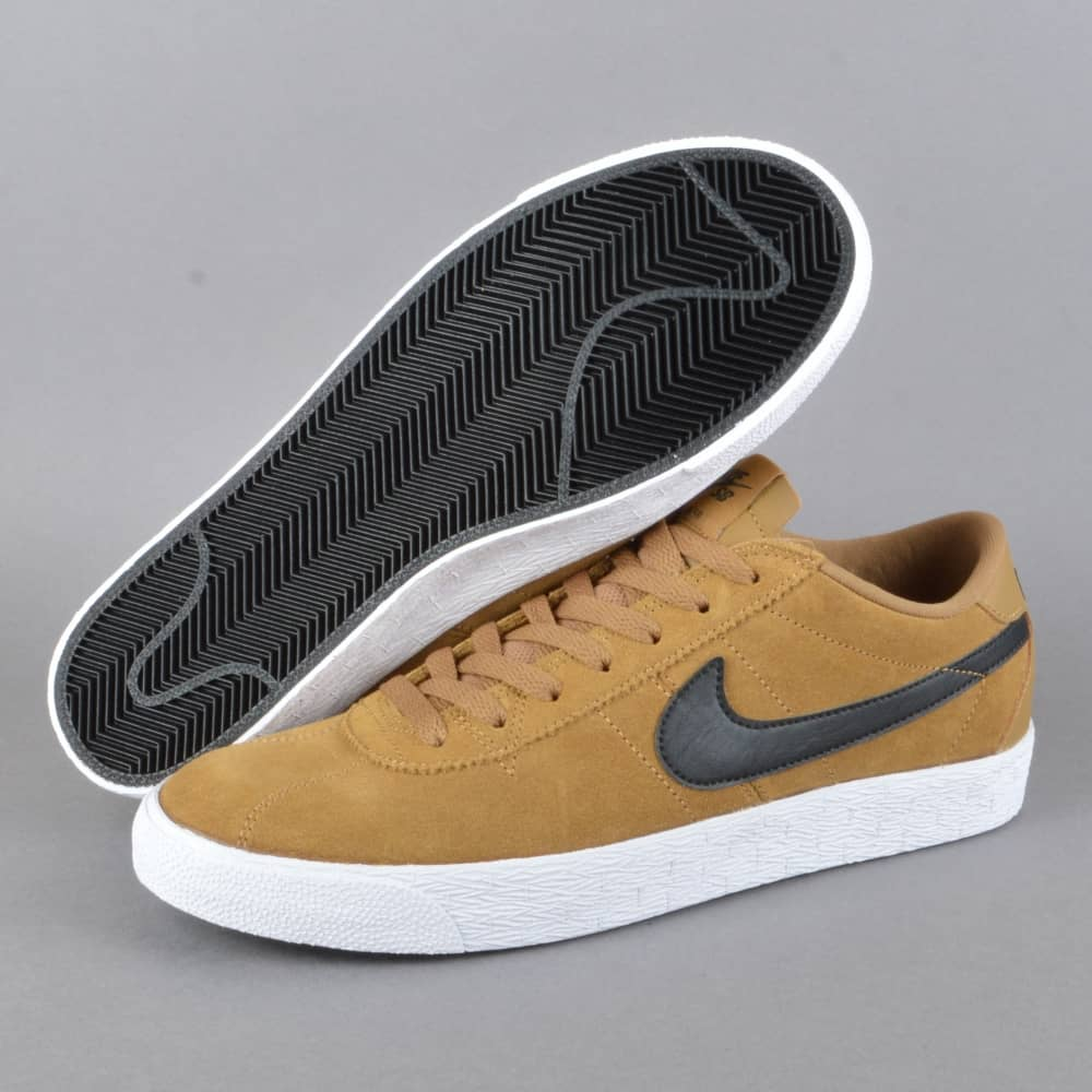 low priced bf1b3 6e7b4 Bruin Zoom PRM SE Skate Shoes - Golden Beige Black-White-Black