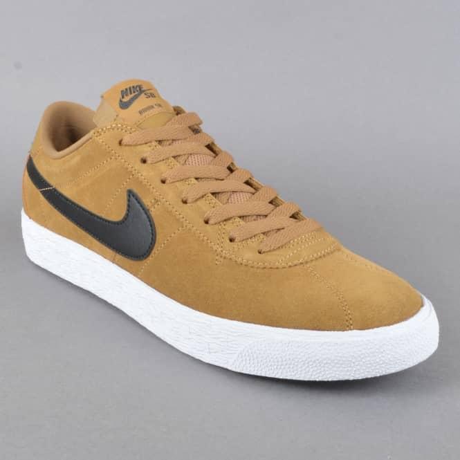 low priced cc9a6 ea510 Bruin Zoom PRM SE Skate Shoes - Golden Beige Black-White-Black