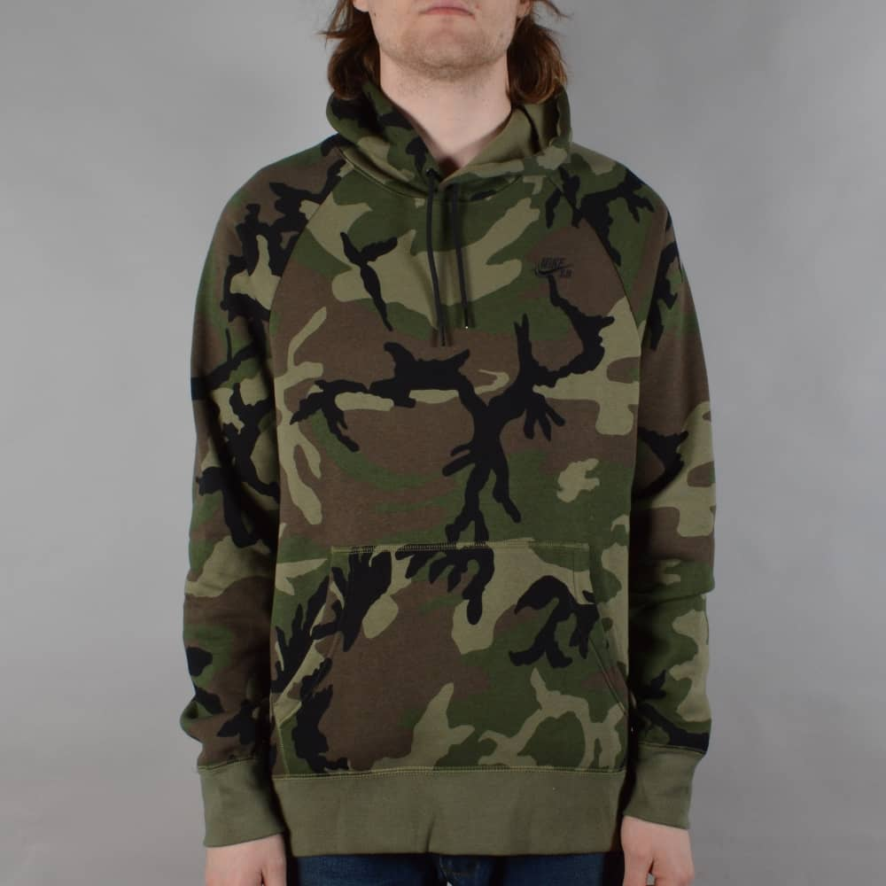 new authentic huge inventory pretty cool Camo Pullover Hoodie - Medium Olive/Black